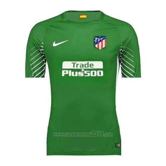 Tailandia Camiseta Atletico Madrid Portero 2017-2018 Verde ... b1e82fb5dd9e5