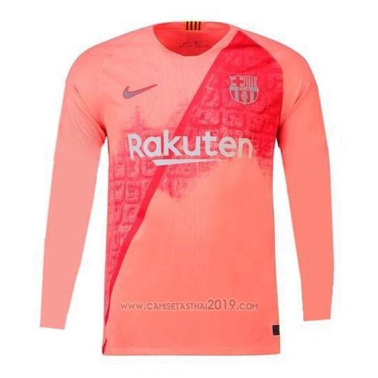 Camiseta Barcelona Tercera Manga Larga 2018-2019  4063988dd05