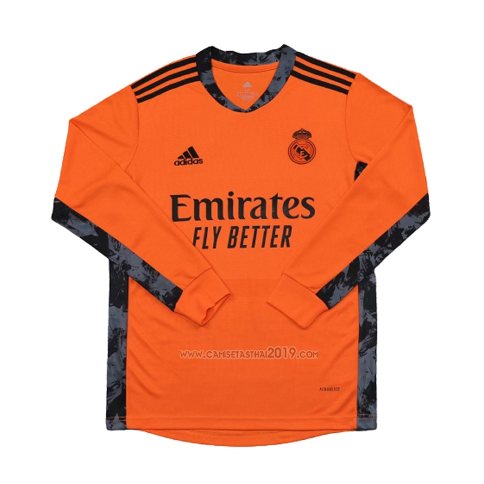 Camiseta Real Madrid Portero Segunda Manga Larga 2020-2021 - Camisetas calidad thai