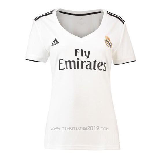 ... Camiseta Real Madrid Primera Mujer 2018-2019 8c6b0968943a5