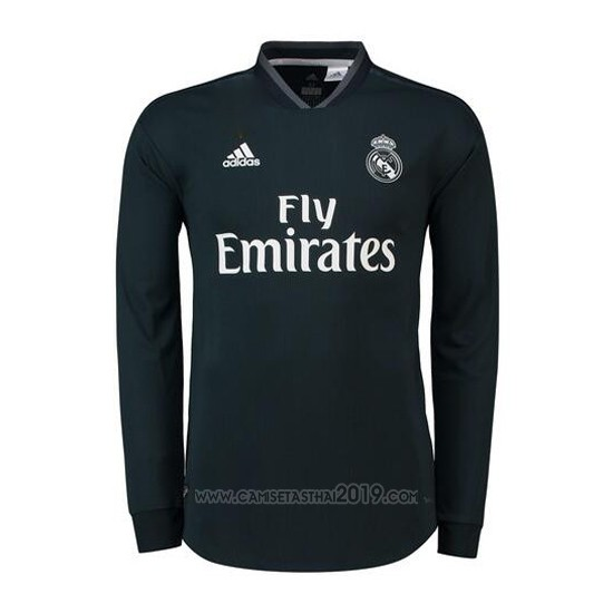 ... Camiseta Real Madrid Segunda Manga Larga 2018-2019 209782e965335