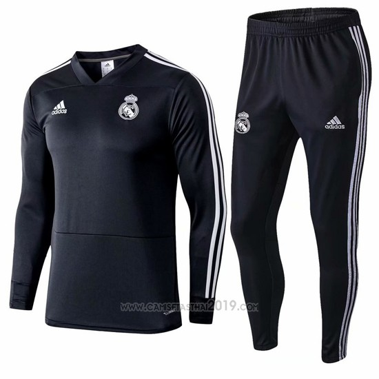 ... Chandal del Real Madrid Nino 2018-2019 Gris c0f8f4a8d25