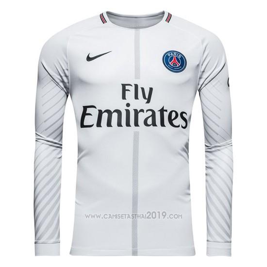 Camiseta Paris Saint-Germain Portero Manga Larga 2017-2018 Gris ... 299123599edd0