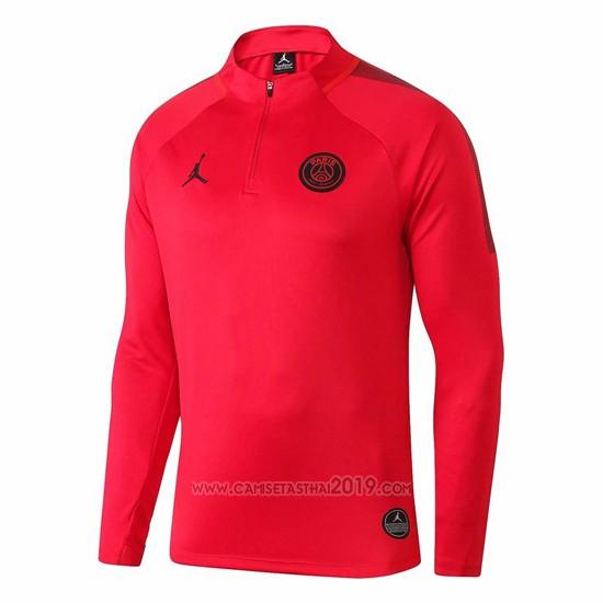 Descompostura espontáneo Pera  Sudadera del Paris Saint-Germain Jordan 2018-2019 Rojo | Camisetas calidad  thai