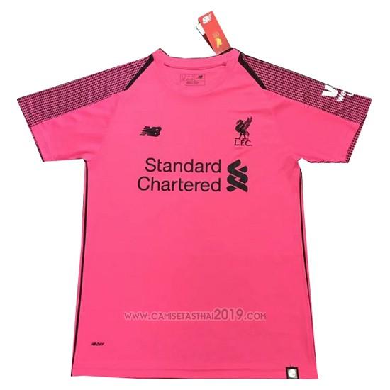 Tailandia Camiseta Liverpool Portero 2018-2019 Rosa  da77ad2294d52