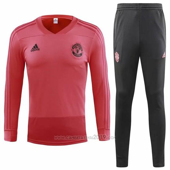 chandal del manchester united 2018 2019 rosa camisetas calidad thai chandal del manchester united 2018 2019 rosa