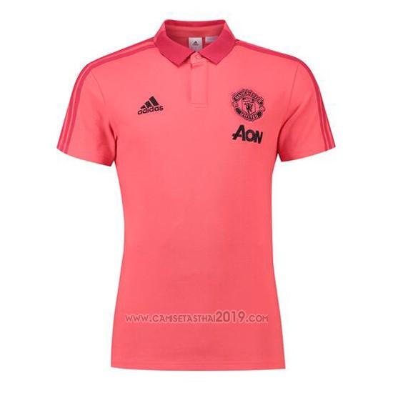 polo manchester united 2018 2019 rosa camisetas calidad thai polo manchester united 2018 2019 rosa