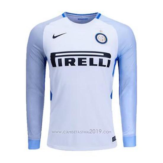 Camiseta Inter Milan Segunda Manga Larga 2017-2018  c9fb382ed0b60